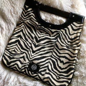 Dana Buchman Fold Over Zebra Bag Clutch
